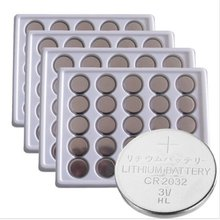 100PCS a lot CR2032 3V Cell Button Battery Currency type batteries for watches, toy, calculator Free Shipping