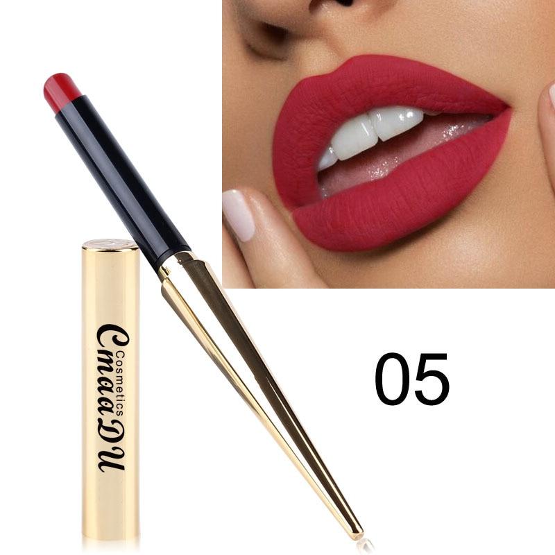 12 Colors Matte Bullet Head Lipstick Waterproof Long Lasting Makeup Tube Lip Stick Cosmetic Fashion Lips Makeup Matte Lipstick