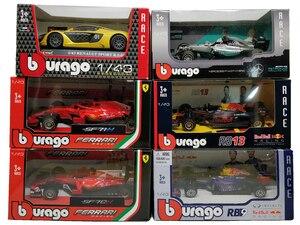 BBurago 2018 F1 Formula One 1:43 RedBull W05 W07 SF71H SF70H SF16 RB13 RB14 Diecast Racing Model Car Toy Cars