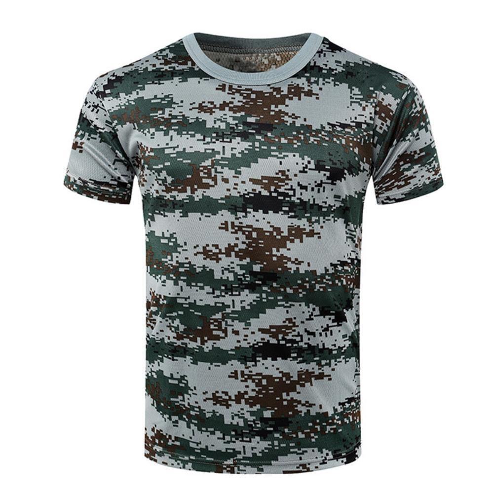 Fashion Students Unisex Summer Camouflage Military Combat T-Shirt Short Sleeve Blouse Hot