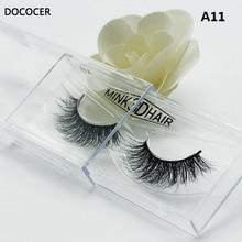 1 pair 3D Fatti A Mano di Spessore Ciglia di Visone Naturale Ciglia Finte per la Bellezza di Trucco falso Eye Lashes Extension A11