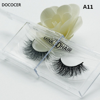 1 pair 3D Handmade Thick Mink Eyelashes Natural False Eyelashes for Beauty Makeup fake Eye Lashes Extension-A11