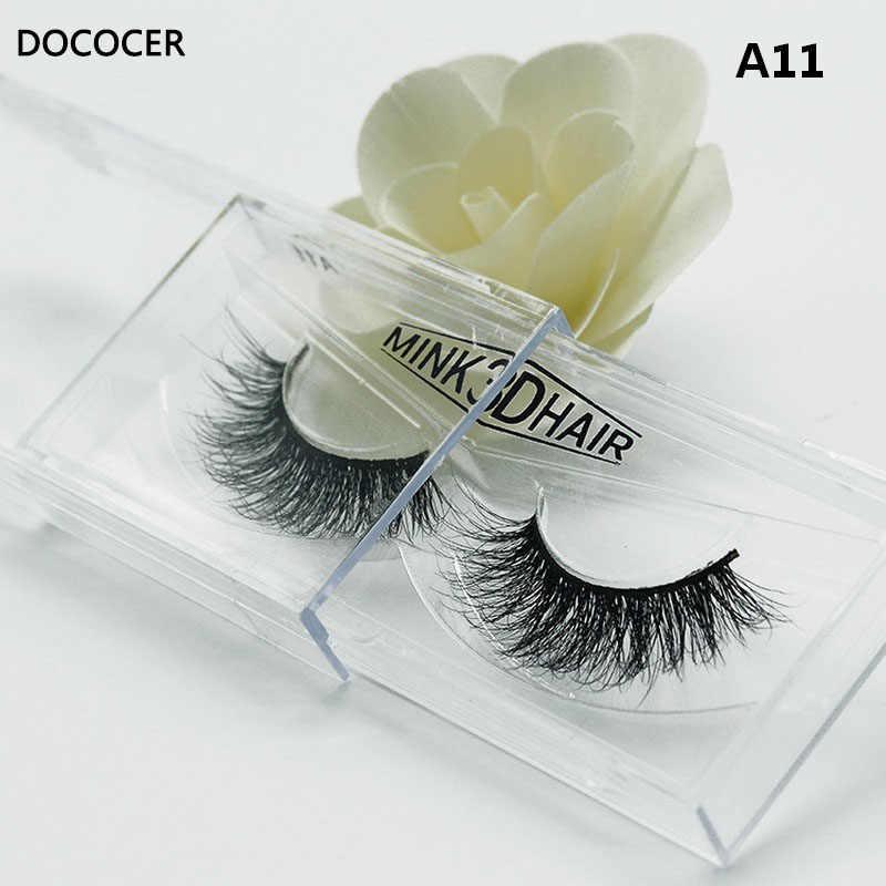b9817db8b48 1 pair 3D Handmade Thick Mink Eyelashes Natural False Eyelashes for Beauty  Makeup fake Eye Lashes