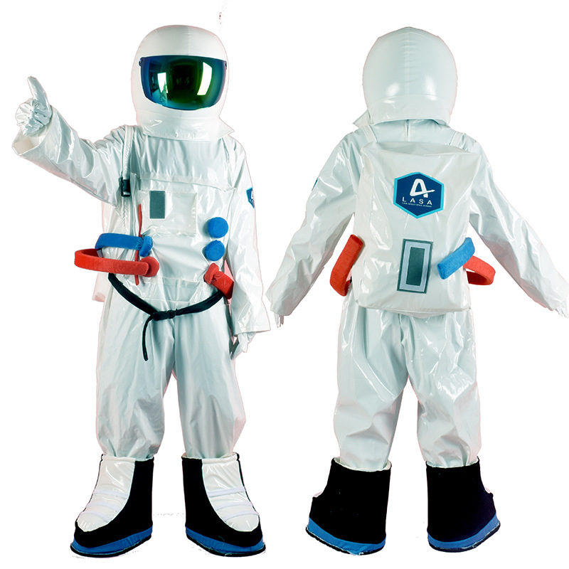 Astronaut Cosplay Costume With Helmet For Children Adult Spacesuit Universe Star Party Clothes Performance Props