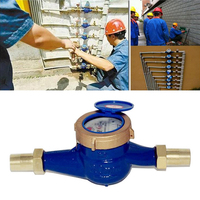 New DN20 3/4 Household Tap Water Meter Cold Water Meter for Currently Calibrate Brass Measuring Tools