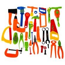 34 шт. ребенка строителей Пластик нарядное платье Интимные аксессуары комплект Наборы инструментов Игрушечные лошадки, DIY Творческий Кирпич игрушка обучающие игрушки для детей