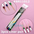 10sets/lot 3 x Nail Art Acrylic Brush Pen Paint Liner Drawing Tips Nail Tools SKU:G0057XXX