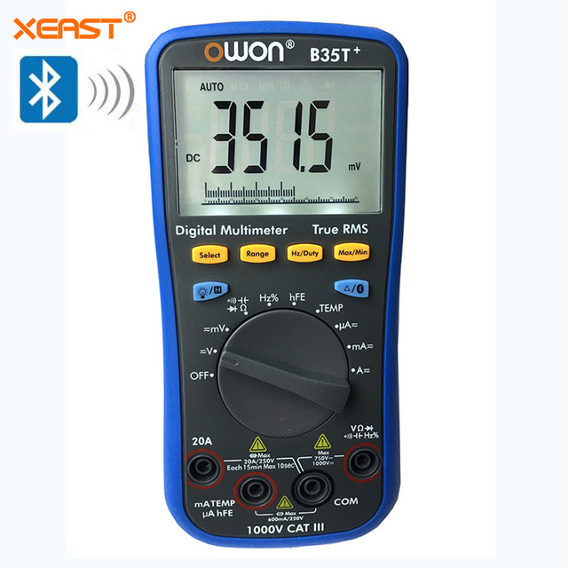 OWON B35T multimeter with True RMS measurement Bluetooth BLE 4 0 Android and iOS and offline