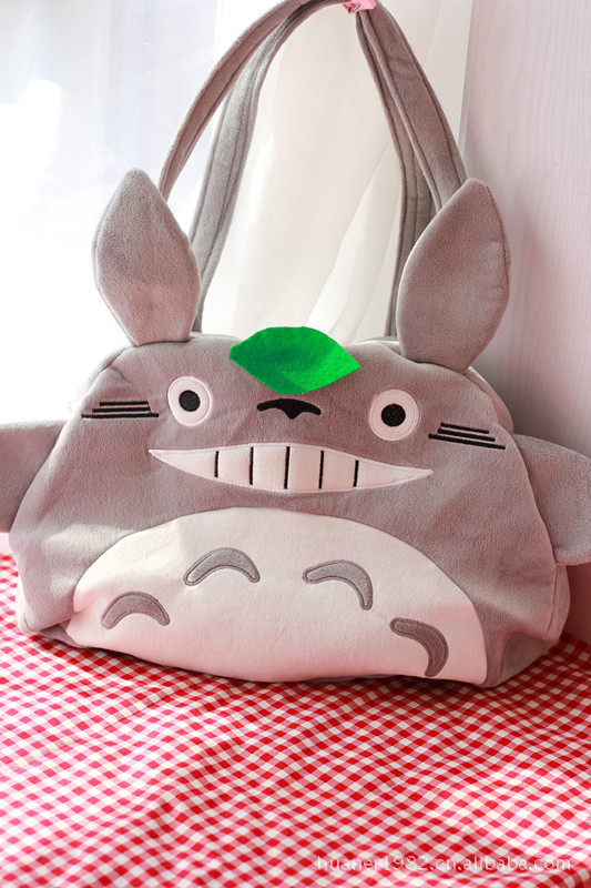 Hearty Cartoon Series Shoulder Bag Hayao Miyazaki Totoro Plush Toy Bag High Quality 1pcs/lot 100% Original Toys & Hobbies Dolls & Stuffed Toys