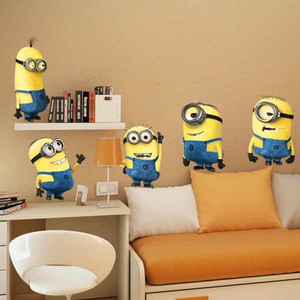 1pc cartoon wall stickers big size decorative room home school