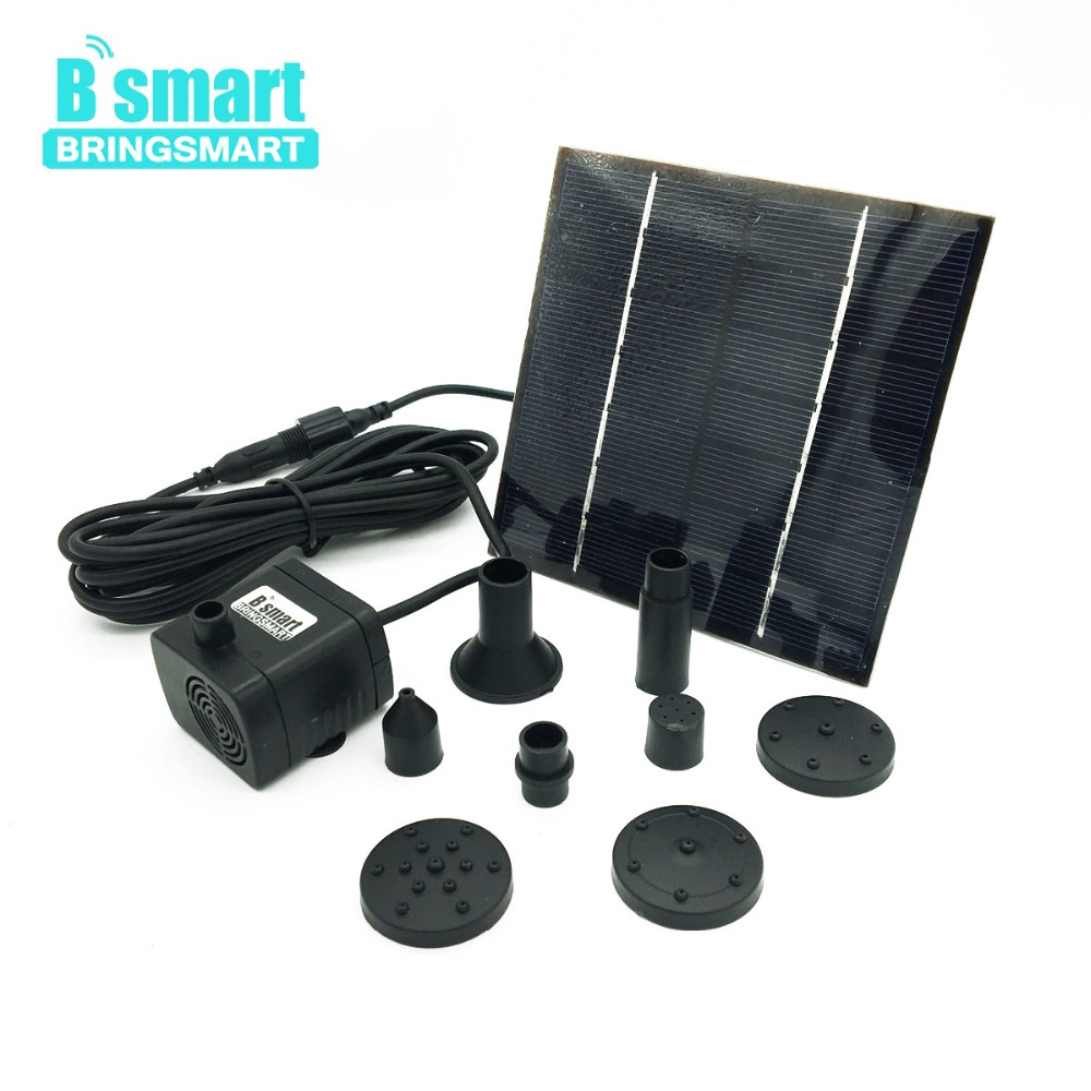 Bringsmart JT-180-1.4W 200L/H 80CM Solar Micro Water Pump 7V DC Brushless Solar Pond Fountain Landscape Pump Mini Solar Panel joyo jt 06 mini