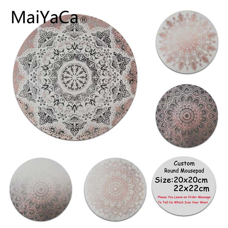 MaiYaCa Cool New Black dancing mandala High Speed New Mousepad Size for 200x200x2mm and 220x220x2mm Round Mousemats