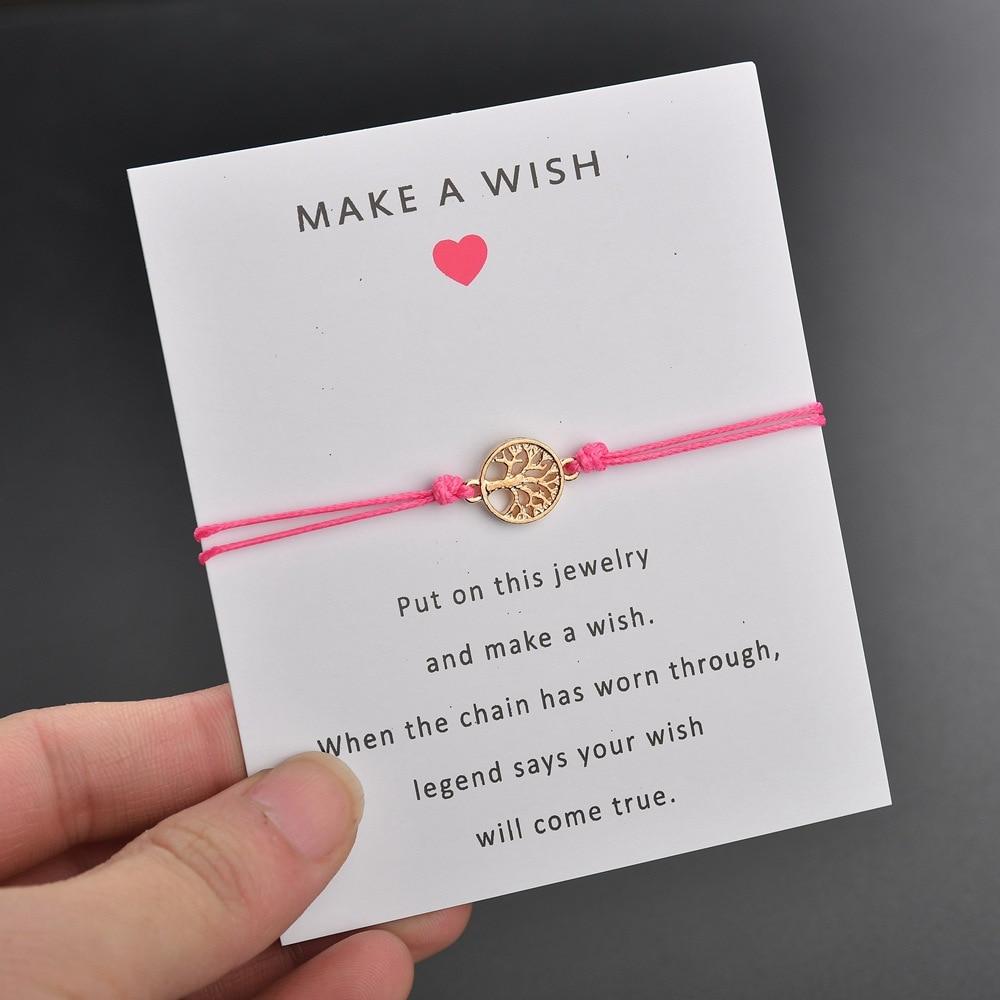 Life Tree Charm Bracelet Red String Friendship Wish Bracelets for Women Men Kids Lovers Couple Jewelry Gift Adjustable