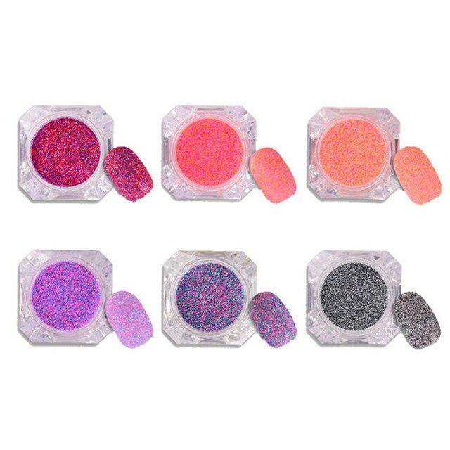 6 Unids Arena Azúcar de Uñas Glitter Powder Set Mixta Clavo Del ...