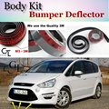 Bumper Lip Lábios Deflector Para Ford S-Max SMax S-max Frente Spoiler saia Para A BOA SORTE Fãs de Opinião Do Carro Tuning/Body Kit/tira