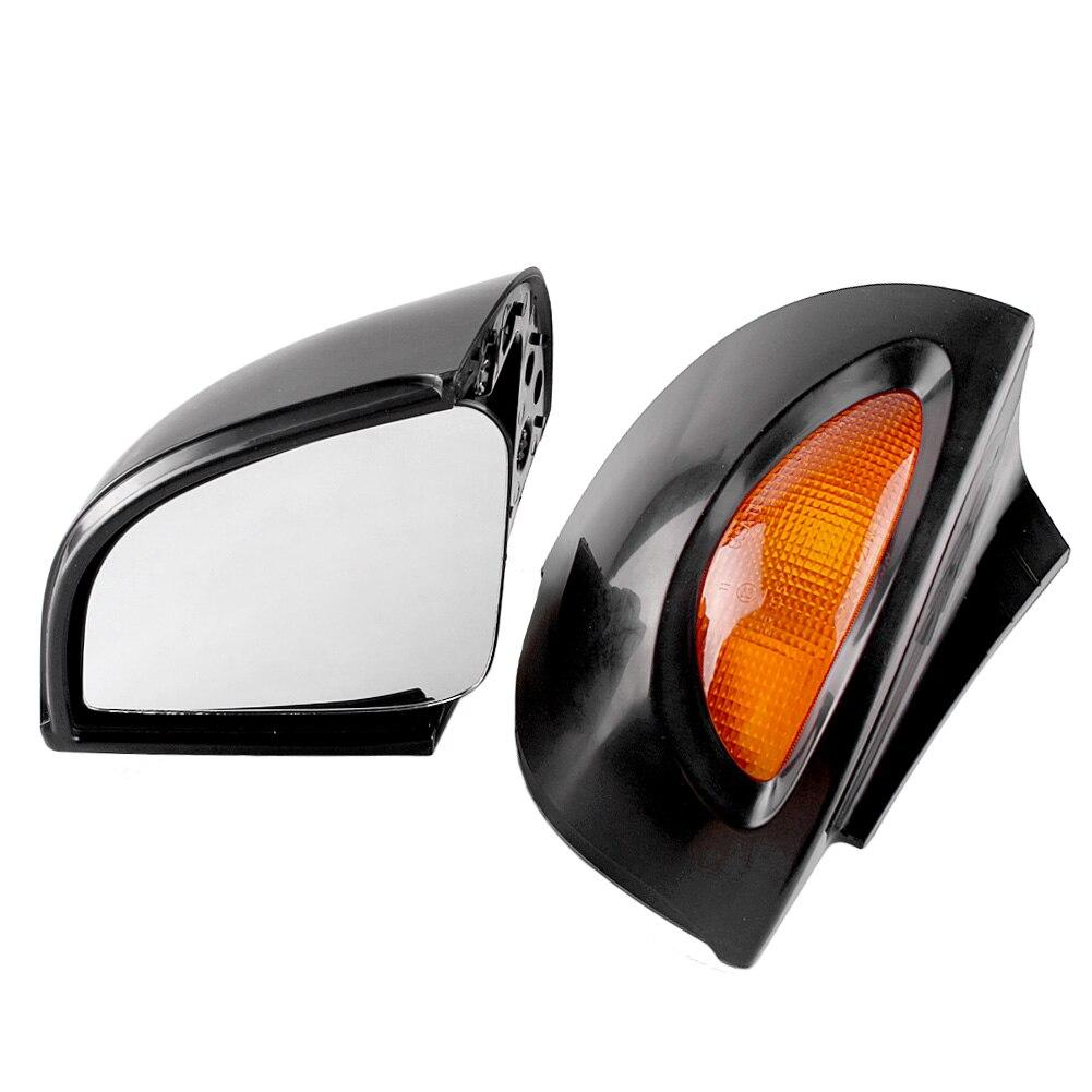 Мотоцикл заднего вида Боковые Зеркала поворотники индикаторная лампа для BMW R1150RT 2001 2005 пара мотоцикла запасные Запчасти