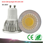 1PCS GU10 COB LED Bulb Spot Light AC85-265V /110V/220V 9W 12W 15W COB LED Light White/Warm White led lamp