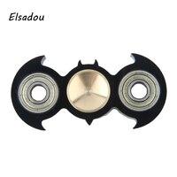 Elsadou 2018 Best Hand Spinner Batman Shape Finger Spinner Fidget Toy
