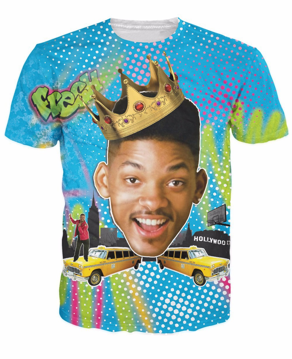 New Arrive Summer Style So Fresh Will Smith T-Shirt Sexy tee Fresh Prince of Bel Air 3d t shirt tshirt for women men