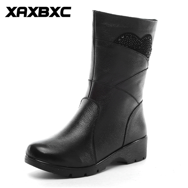 Women Boots Zipper Warm Lined