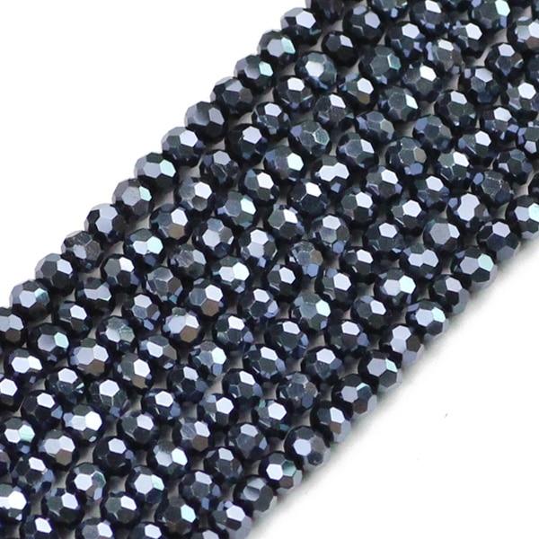 JHNBY, футбольные граненые Австрийские кристаллы, 200 шт, 3 мм, цветные круглые бусины, ювелирные изделия, браслет, аксессуары, сделай сам - Цвет: QZ3103 Indigo