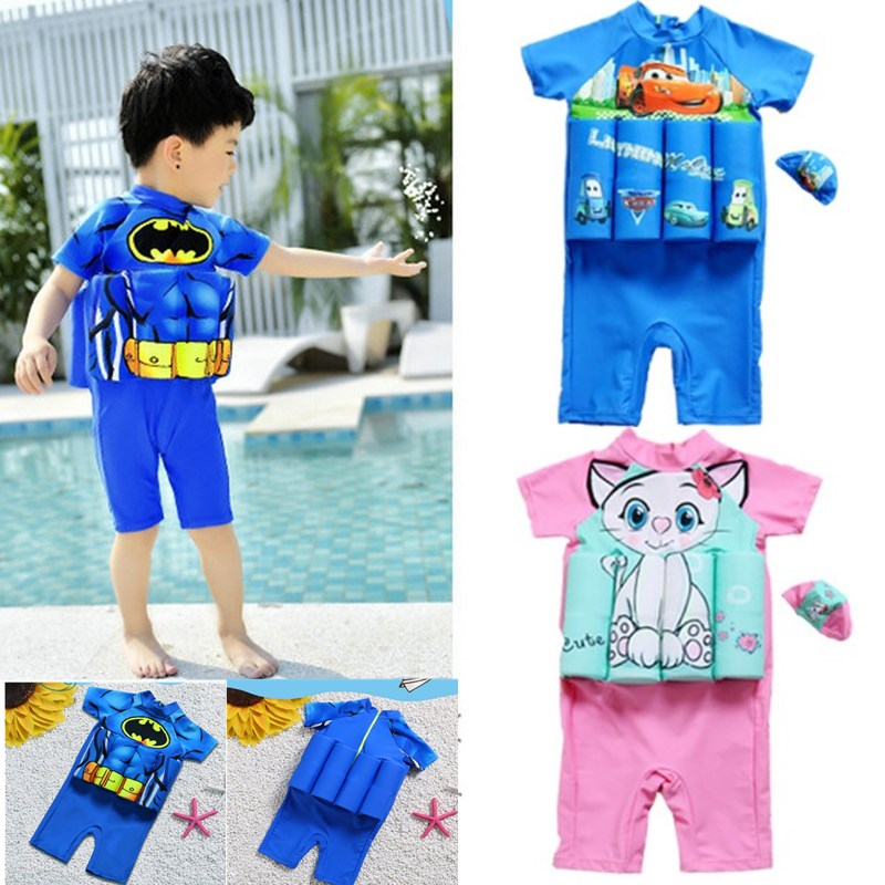 4be07448298ba Detail Feedback Questions about Kids Swimwear For Girls Swimming Suit  Junior Swimsuit Bathing Suits 2018 Boys Drying Aids Children Floating Rayon  swim life ...
