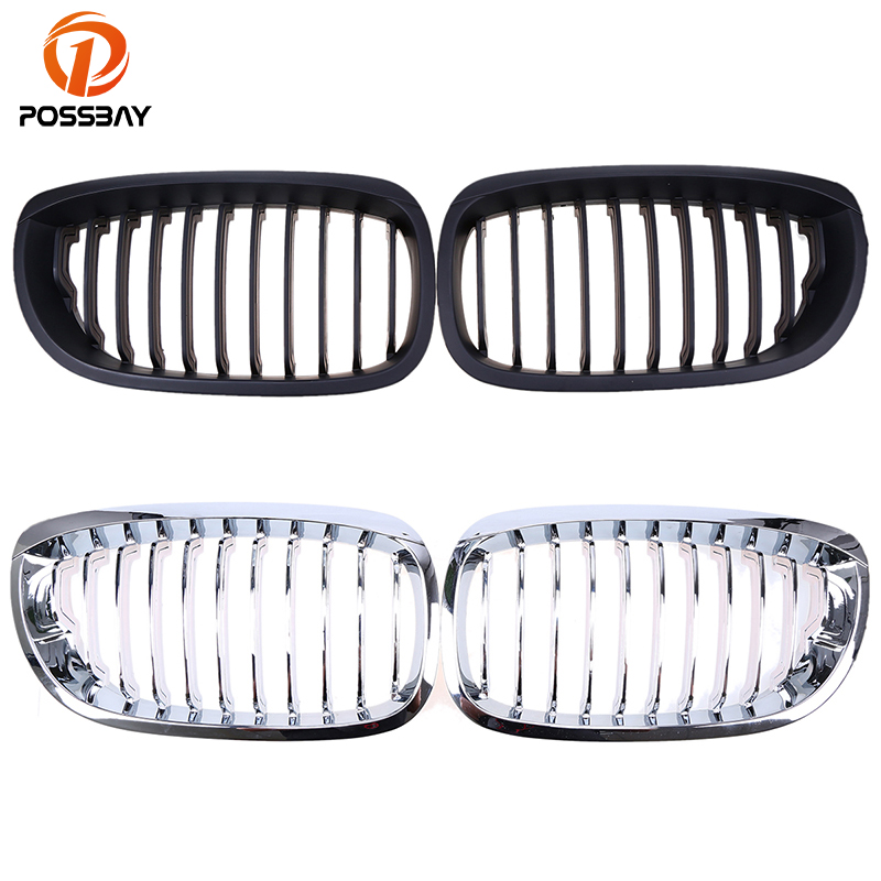 POSSBAY Car Front Center Grille for BMW 3-Series E46 316Ci/318Ci/320Cd Coupe/Cabrio 2003-2006 Facelift Bumper Racing Grilles for bmw e53 x5 2004 2006 4dr lci facelift car front grille grills car styling covers grilles