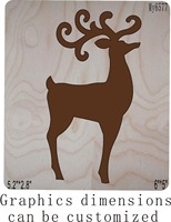Brown Christmas deer new wooden mould cutting dies for scrapbooking Thickness 15.8mm