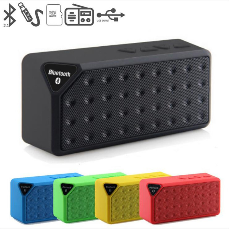X3S Mini Wireless Bluetooth Speaker TF USB FM Radio Portable Music Sound Box Stereo Subwoofer Loudspeakers With Mic For Phone PC