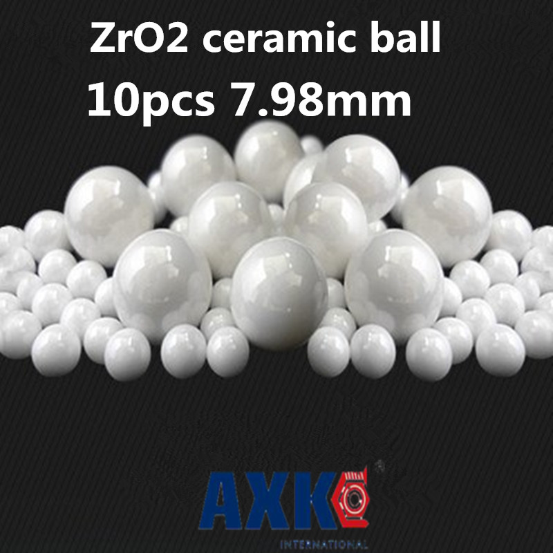 Buy 2019 Time-limited New Thrust Bearing Axk 10pcs 7.98mm Zro2 Ceramic Balls Zirconia Used In Bearing/pump/linear Slider/valvs G5 for only 21.2 USD