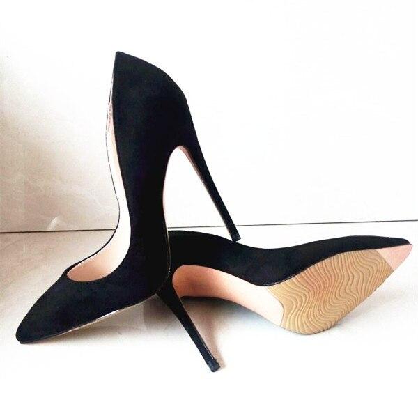 Pic Pompe Estremo Stiletto Da Donne as Zapatos Scamosciata Sexy Nere Pic Progettista Tacchi Scarpe Pelle Punta Mulher Sapatos Sposa In Mujer A As Alti IPpPgSqx