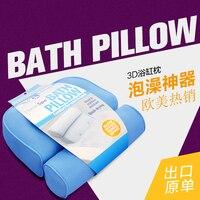 2017 Bathtub Cushions Pillow 3D Jacuzzi Tub With Sucker Anti Skid Bathing Cushions Bath Pillows Non