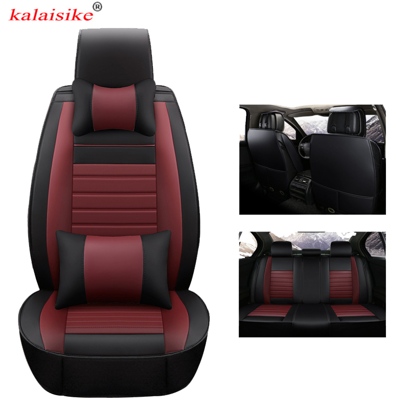 Kalaisike housses de siège auto universelles en cuir pour BMW tous modèles e39 x6 x4 x3 e46 e70 f11 f30 f10 x1 x5 accessoires de style de voiture