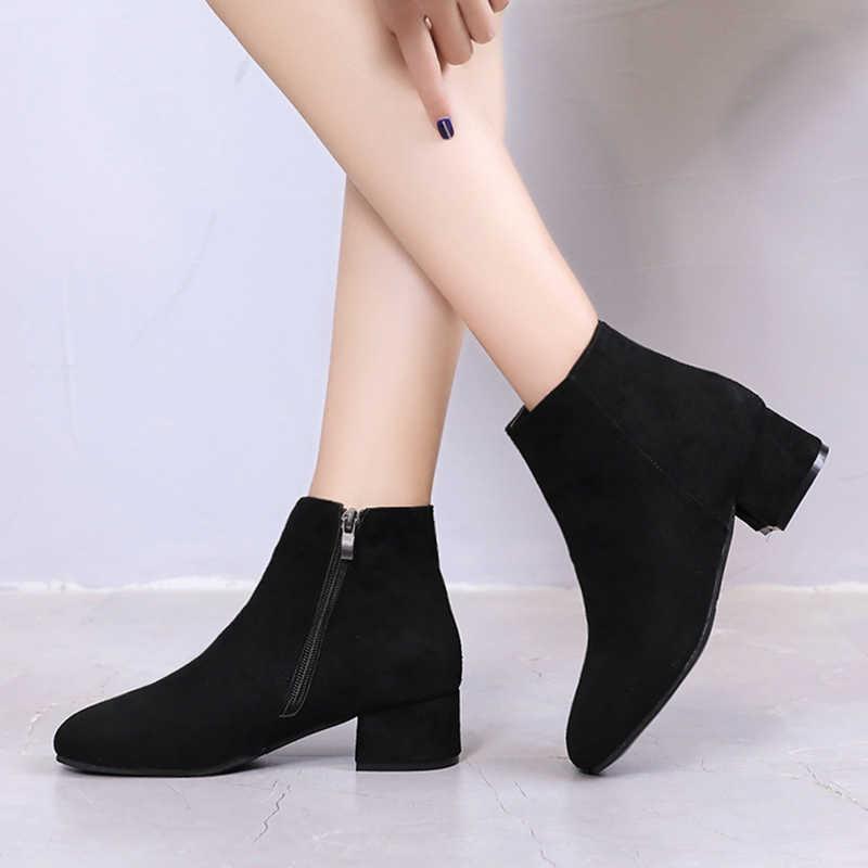 Plus size Winter Boots Women Low Heels