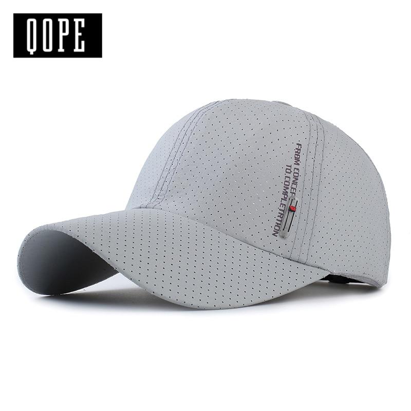 QOPE 2017 NEW Men Women Summer Snapback Quick Dry Mesh Baseball Cap Sun Hat Bone Breathable Hats for summer dad  Polyester hat корм для волнистых попугаев padovan grandmix cocorite