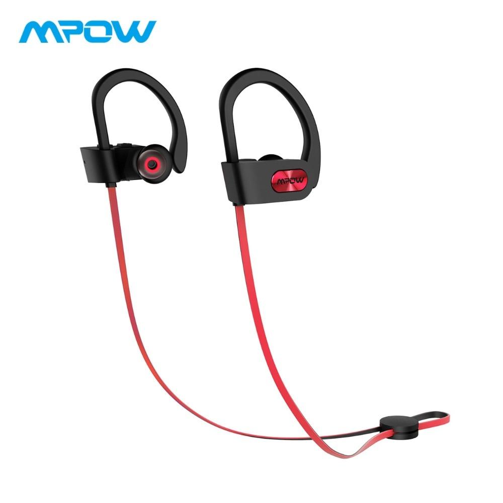 Orijinal Mpow Flame Bluetooth qulaqlıqları HiFi Stereo Simsiz Earbuds Su keçirməz İdman qulaqlıqları Mikrofon / Portativ Daşımalı Qutusu