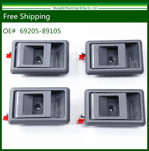 Free Shipping 4 PCS Gray Inside Interior Door Handle for Toyota Tacoma 4Runner Pickup Corolla 69205-89105