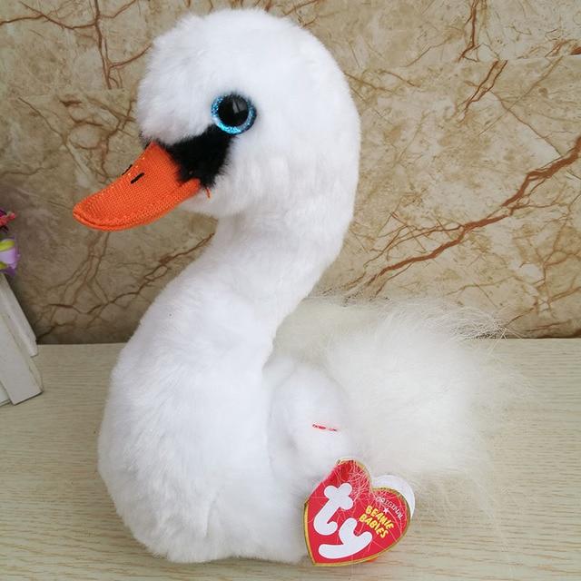 04fce8ae8fc 2018 New Ty beanie boos collection Gracie Swan plush toy 15 cm 6 inch  girl s gift stuffed animal doll Birthday Home Decor Kids