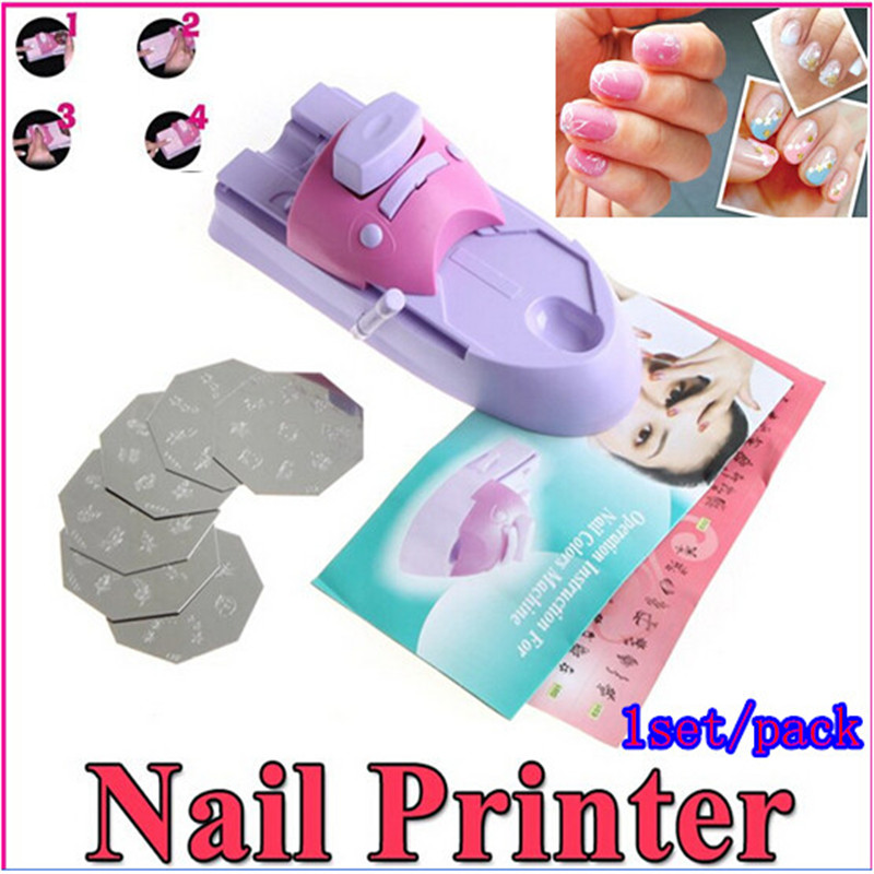 1set Pack Nails Art Design Drawing Polish Stamper Printer Machine Carimbo De Unha Paint Decorate Fingernail In Nail Equipment From Beauty Health On