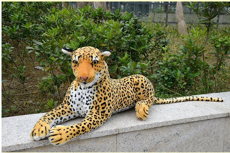 big creative plush lovely simulation leopard toy stuffed lifelike leopard doll gift about 90cm stuffed animal 145cm plush tiger toy about 57 inch simulation tiger doll great gift w014