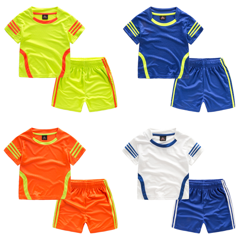 Baby Football Suit Children s Sports Suit 2017 New Children s Clothing Breathable Shirt Shorts Boy