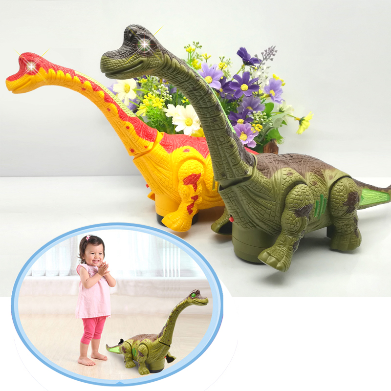 Electric Walking Dinosaur Toys Glowing Dinosaurs With Sound Animals