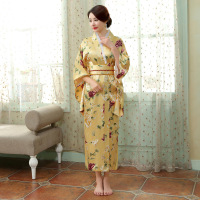 Vintage Japanese Traditional Kimono Yukata Evening Dress Haori Kimono with Obi Novelty Party Dress Performance Dance Costume