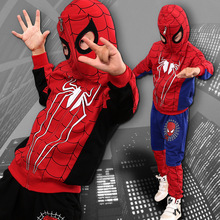 Hot Sale Spring Autumn Children Boys Clothing Sets Kids Cartoon Printed Coat Spiderman Hoodie Casual Clothes Suit Free Delivery