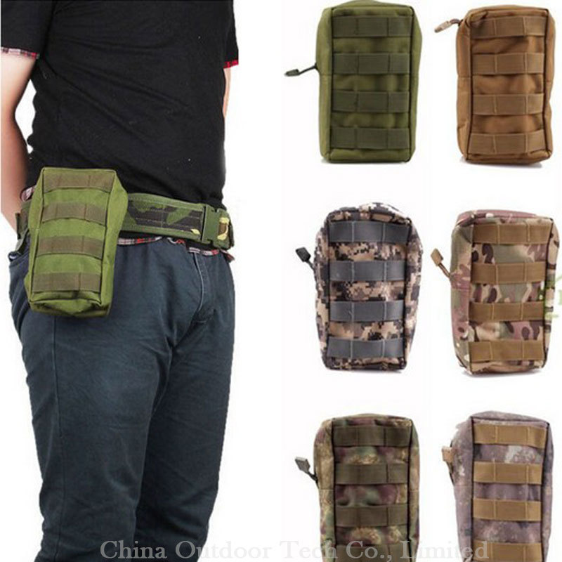 100% Real Molle Utility First Aid Kits Outdoor Waist Bag Tactical Pouches  Military Magazine Pouch Mag