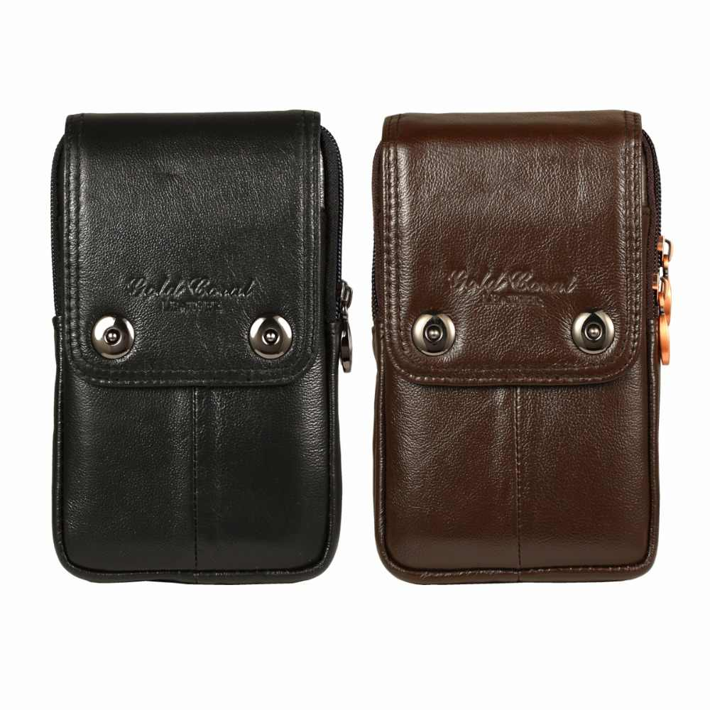 95c478e9e52f Detail Feedback Questions about Men Genuine Leather Carry Belt Clip Pouch  Waist Purse Case Cover for Doogee BL12000 Mobile Phone Bag Free Drop ...