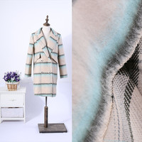 FFLACELL The Import Of High Grade Wool Plaid Cloth Thickened Along Woolen Fabrics Fashion Wool Winter