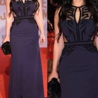 Ever pretty Chiffon A Line evening dresses Long 2020 Black Crystals Beaded Formal dress Party Evening gown vestido de noche