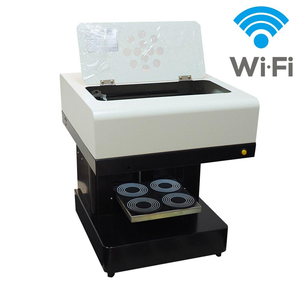Automatique Café Imprimante 4 tasses Biscuits Gâteau Chocolat Imprimante DIY Imprimante café Selfie Latte machine D'impression Avec Wifi