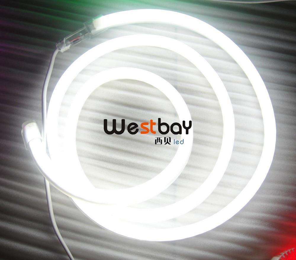 White Led Neon Flex for outside building decoration,signage